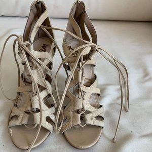 Sam Edelman lace up open toed pumps